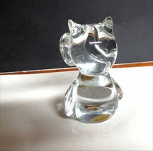 "VINTAGE Napcoware Studio Art Glass OWL  3.75""  image 3"