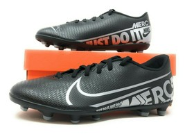 Nike Vapor 13 Club FG/MG Black/Metallic Cool Grey Mens Soccer Cleats AT7968 001 - $40.00