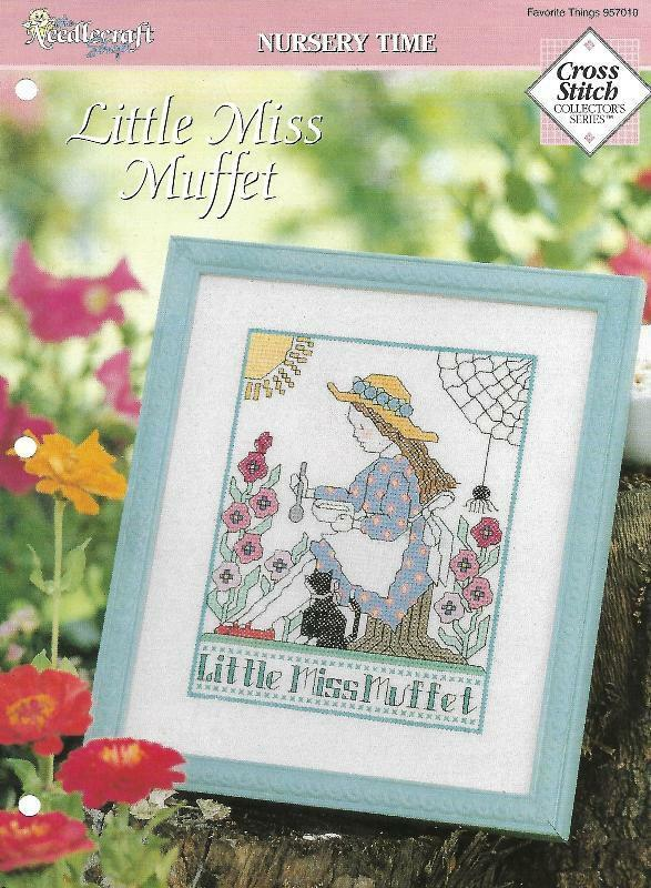 Little Miss Muffet Counted Cross Stitch Needlecraft Shop Nursery Time 957010 - $4.15