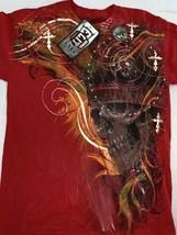 MMA Elite Domination Graphic T Shirt Tee Red Orange Size M Skull Crown N... - $19.00