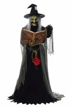 Spell Speaking Witch Animated Halloween Lifesize Prop Haunted House 6 ft... - $189.95