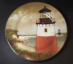 "By the Sea Lighthouse salad plate David Carter Brown Oneida 8.25"" #3 - $8.75"