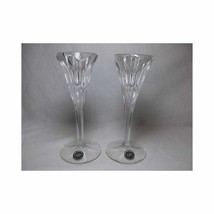 Pair Vtg LENOX CRYSTAL TAPER CANDLE HOLDERS Marked glass Made Germany 7 ... - $32.38