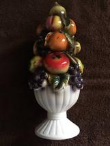 Fruit Tree Apples Orange Grapes Sorrento Pedestal Creation Peach - $40.00
