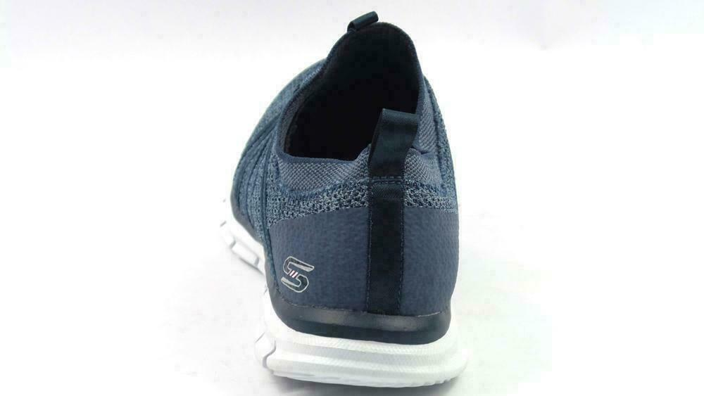 Skechers Stretch-Knit Bungee Slip-On Sneakers - Glider Tuneful Navy 8.5 M image 5
