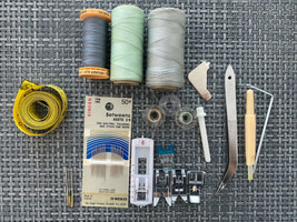 Sewing Machine Accessories LOT With Zipper Button All Purpose Buttonhole... - $16.83