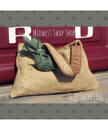 Burlap Purse - Handmade - Upcycled Material - W... - $20.00