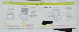 GANZ Brand Beyond a Bag BB227 Seasme Color Toiletry Notebook Hanging Organizer image 11