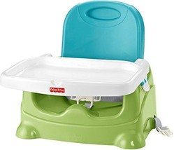 Fisher-Price Healthy Care Booster Seat Green/Blue Chairs Feeding Baby - $36.93