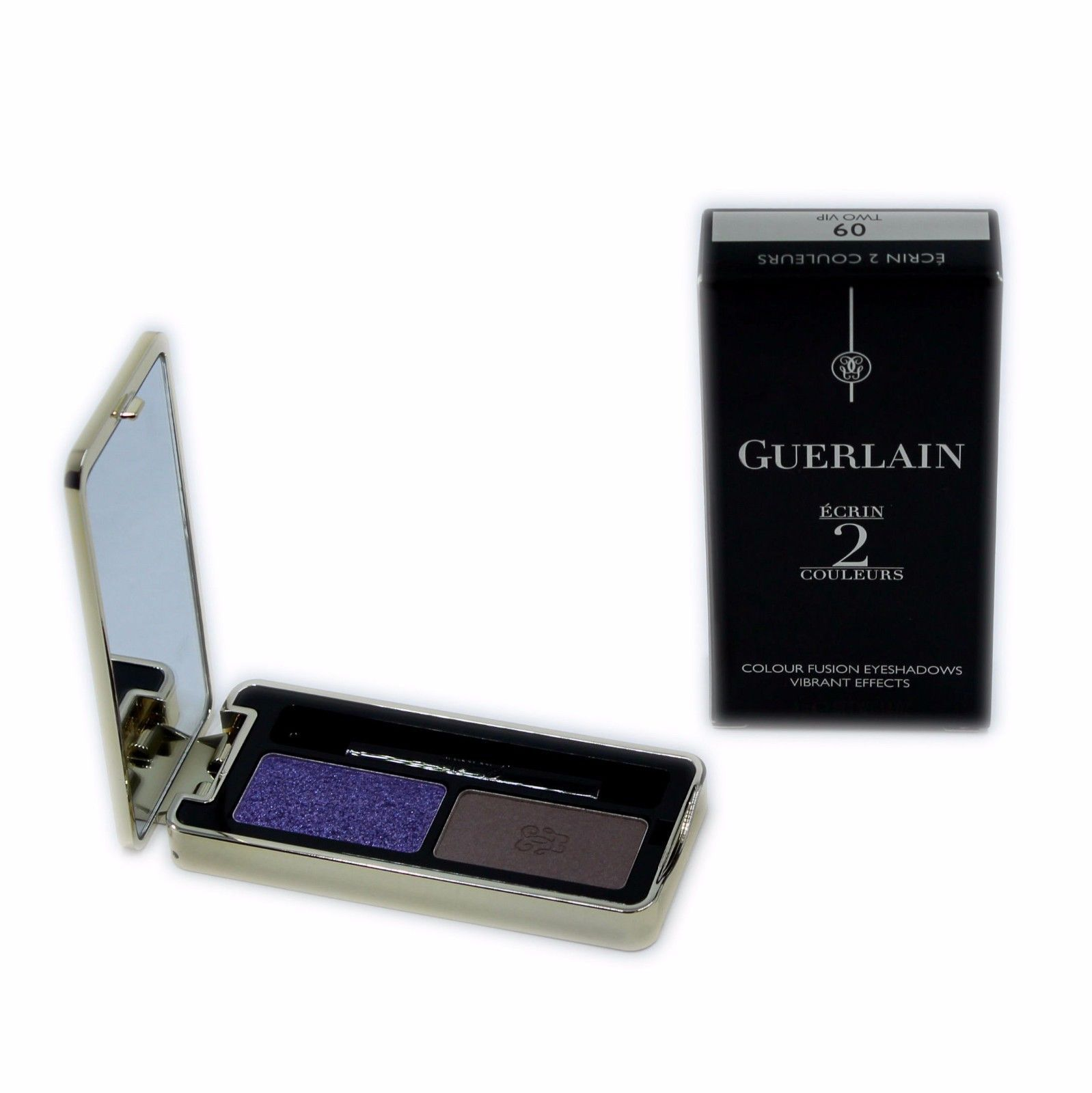 Primary image for GUERLAIN ECRIN 2 COULEURS COLOUR FUSION EYESHADOWS EFFETS VIBRANTS 4G #09-G41395