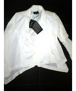 NWT New Womens 6 8 Designer Patrizia Pepe White Jacket 42 Italy Flowy As... - $695.00