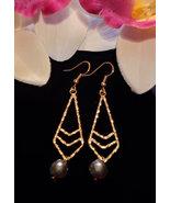 Diamond Arrow Pearl earrings - $20.00