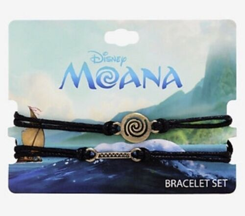Disney Moana Way Finding Burnished Gold Tone Charms Cord Bracelet Set - $12.37