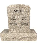Plumb Rose Granite Monument Headstone Oval Top Gravestone ENGRAVING INCL... - $990.00