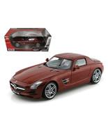 Mercedes SLS AMG Gullwing Chocolate 1/18 Diecast Car Model by Motormax 7... - $58.08