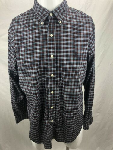 Polo Ralph Lauren LS Double-Faced 100/% Cotton Gingham Plaid Shirt $125  Pony NWT