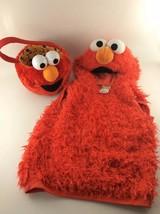 Sesame Street Elmo Halloween Costume Hooded Pullover & Treat Pail Size 3... - $23.99