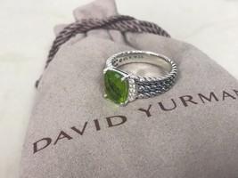 David Yurman Ring Petite Wheaton Peridot And Diamond - 7 - $299.99