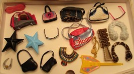 Vintage BRATZ Doll Accessories Lot of 20 Pieces Bags Purses Sunglasses B... - $16.82
