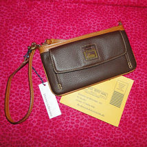 Dooney & Bourke Pebble Leather Front Pocket Wristlet NWT image 9