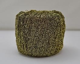 Metallic Gold & Black Crochet Thread - 1 Ball Color Gold/Black No Label - $4.70