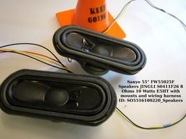 "Sanyo 55"" FW55025F Speakers JINGLI S0411F26 8 Ohms 10 Watts E5HT with mounts - $14.96"