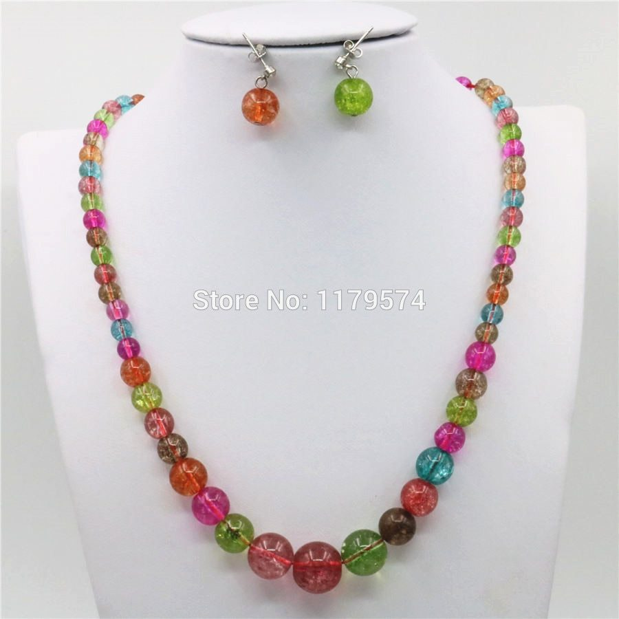 Primary image for 6-14mm Tower Tourmaline Accessories Necklace Chain Earbob Earrings Sets Jewelry