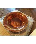 Large! NIB! PartyLite Venezia Glass Gold Centerpiece Bowl 3 Wick Candle ... - $18.55