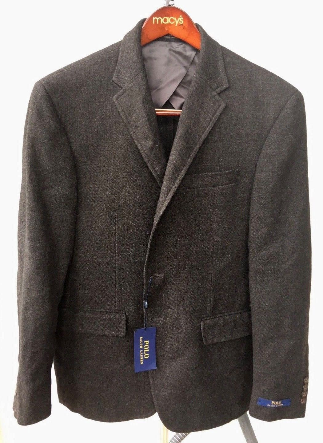 Primary image for $895.00 Polo Ralph Lauren Men's Gray Polo Wool-linen Sport Coat Size 42 Reg