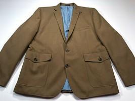 Stafford Essentials 46R Blazer Sport Coat Jacket 2-Button Brown Single Vent - $49.99
