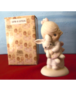 Jesus Loves Me Figurine Girl with Bunny Precious Moments E-1372 Figurine... - $29.95