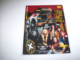 1994 MIDWAY REVOLUTION X AEROSMITH ORGINAL VIDEO ARCADE ADVERTISING PROM... - $8.90