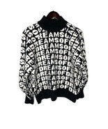 H&M Women's Black White Heavy Knit Sweater Size Small Pullover Logo - $14.85