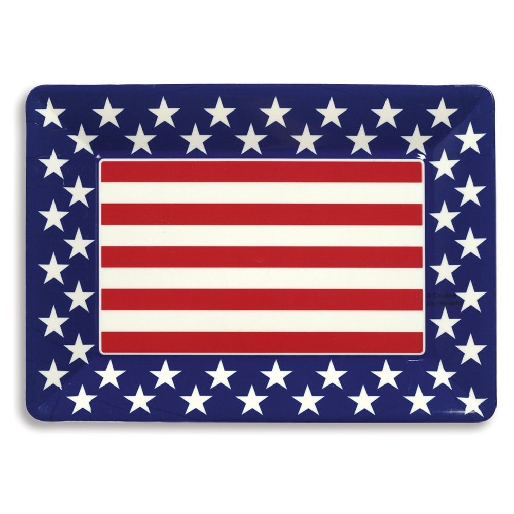 Patriotic 10 x 14 Plastic Tray/Case of 12