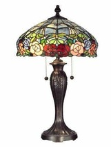 "Dale Tiffany TT12232 Zenia Rose Table Lamp 16.25"" x 16.25"" x 27"" Fieldstone - $335.00"
