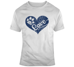 Love Paw Print In Heart T Shirt - $26.99+