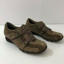 SKECHERS 46860 Brown Suede Bicycle Toe Sneaker Womens Size 8 Mint - $33.44