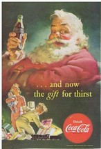 1952 Coca Cola SANTA Children toy toy train gift for thirst Print Ad  - $9.99