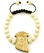 Jesus Bracelet New Good Wood Style Pull Cord Adjustable Macrame With 10m... - $11.99
