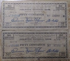 Two 1942 Philippines Guerrilla Notes - $1.95
