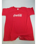 Coca-Cola Infant Child Romper Red 12 Month 100% Cotton Short Sleeve - $11.83