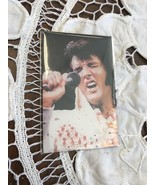 Elvis Presley Magnet Music Souvenir King Of Rock And Roll White Suit Mic... - $5.52