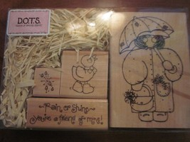 DOTS RUBBER STAMP SET MISS MAY MONICA S 159 BRAND NEW - $24.99