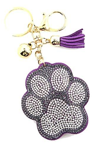 scarlettsbags Pave Crystal Purple Paw Print Handbag Purse Charm Jewelry Pillow K