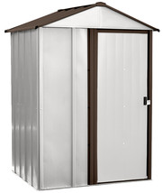 5'x4' Outdoor Garage Storage Shed Yard Tool Steel Metal Garden w Sliding... - $342.79