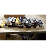 Big lot of 45 New spark plugs. NGK, Bosch, laser, platinum, copper, auto... - $38.33