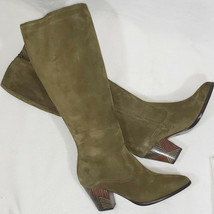 New Anthropologie Frye Reed Tall Olive Green Suede bohemian boots, 5.5 - $94.05