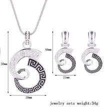 Women Wedding Bridal Jewelry Set Rhinestone Necklace Earrings HIGH QUALITY image 3