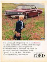Vintage 1964 Magazine Ad Ford Fairlane Handles Like Cobra / Pal Stainless Razor - $5.93