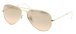 New Ray Ban Aviator RB3025 001/3E 55mm Gold w/Pink Silver - $175.20